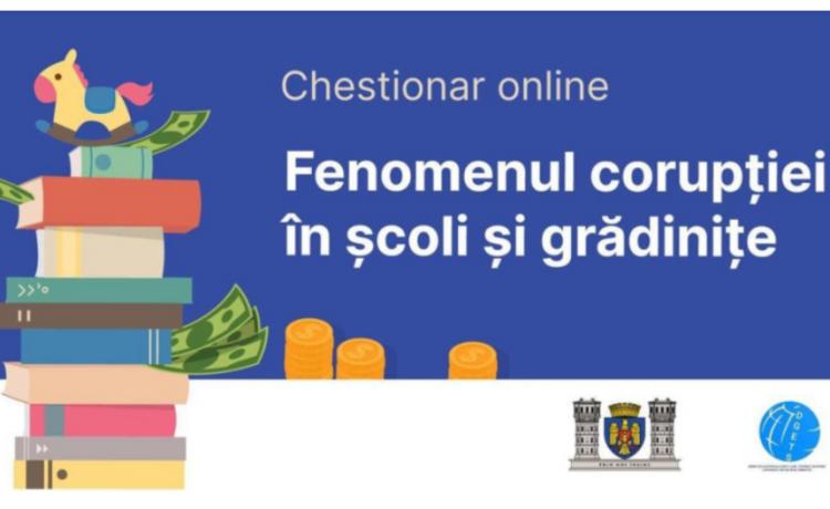 Chestionar online privind fenomenul corupției în școli